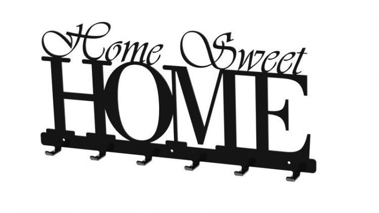 Home sweet home wieszak na ubrania klucze Home ubrania